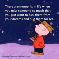 ❤There are moments in life when you miss someone so much that you just want to pick them from your dreams and hug them for real.