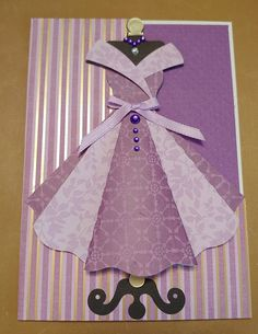Flying Butterfly Card, Butterfly Cards, Cute Cards, Diy Cards, Iris Paper Folding, Paper Dresses, Homemade Birthday Cards, Dress Card, Diy Crafts For Gifts