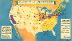 1931 alcohol map of the USA