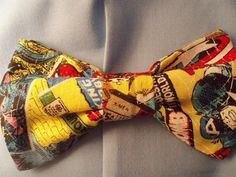 Marvel comic clip on bow tie! $10.00! Wedding or any occasion!