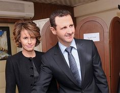 Syrian President Bashar al-Assad and the first lady, Asma