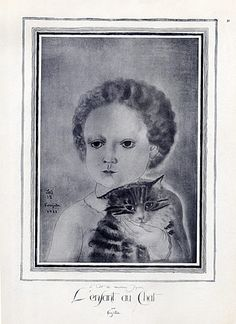 Jacques Nam 1913 Making-up Topless, cat, dog Art And Illustration, Pretty Cats, Pretty Kitty, Cat Art, Make Me Smile, Modern Art, Art Photography, Museum, Gallery