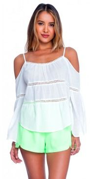 Lush Follow The Leader Off White Cold Shoulder Top