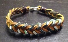 Leather & hex nut bracelet tutorial - great option for guys *and* girls!