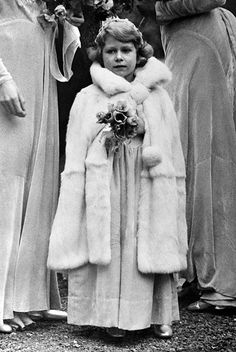 Princess Elizabeth after her father's coronation as King George VI on May She was only 11 years old, and she would become Queen Elizabeth II only 15 years later at the age of Royal Queen, Queen Mary, Queen Elizabeth Ii, Elizabeth Young, Royal Wedding Outfits, Royal Weddings, George Vi, Prinz Philip, Die Queen
