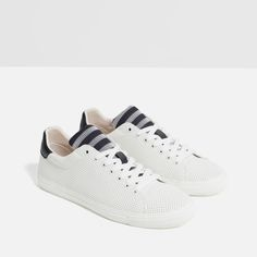 Image 7 of STRIPED TONGUE SNEAKERS from Zara