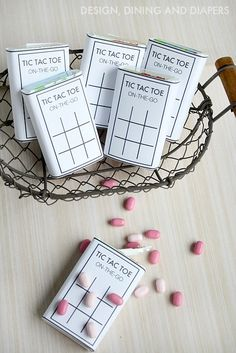 DIY Tic Tac Toe Game For On The Go with FREE PRINTABLE