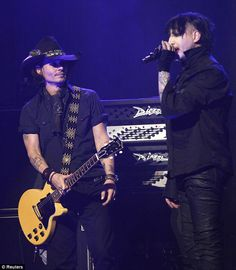 a bit of Mr Johnny depp and Marilyn Manson