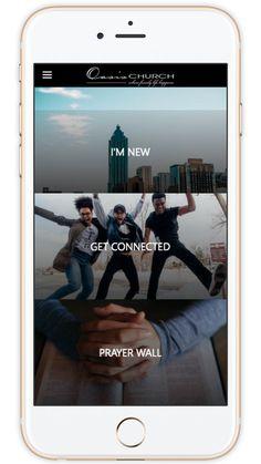 Mobile Design, App Design, Print Design, Church App, Prayer Wall, Small Groups, Mobile App, Oasis, Prayers