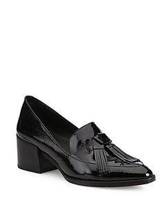 Rebecca Minkoff Edie Tassel Patent Leather Block-Heel Oxfords