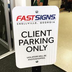 In all its reflective glory  #signs #parking #reflective #vinyl #custom #fastsigns #snellville