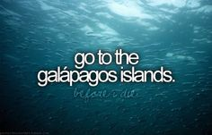 Go to the Galapagos Islands.