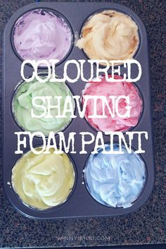 Come and take a look at our coloured shaving foam painting activity for children! A very easy sensory play activity for kids. It is also very quick to clean up!