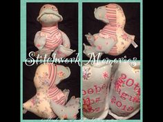 Cute #duck #keepsake made from #baby #clothes. Ducks cost £20 x #handmade #girls #daughter #gifts #parents #stitchwork #memories
