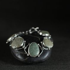 Set Stone Bracelet by rebeccabashara on Etsy, $360.00