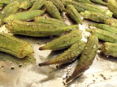 Oven Roasted Okra  This is unbelievable. Taste totally different from the other methods of cooking Okra.