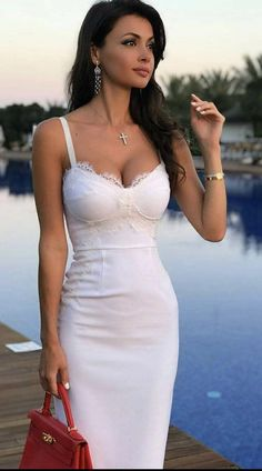 Tight Dresses, Sexy Dresses, Fashion Dresses, Party Dresses, Beauté Blonde, Looks Pinterest, Brunette Beauty, Hot Dress, Sexy Hot Girls