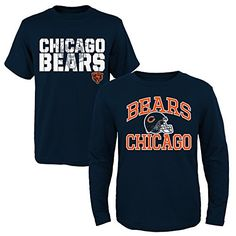 NFL Chicago Bears Youth Boys 820 ShortLong Sleeve Combo Pack Medium 1012 Assorted * Find out more about the great product at the image link.