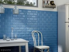 Tile Expert · Metro tile by Equipe Ceramicas Metro Tiles Kitchen, Blue Kitchen Tiles, Country Paint Colors, Shower Shelves, Outdoor Flooring, Wall And Floor Tiles, Wall Tiles, Budget Bathroom, Metroid