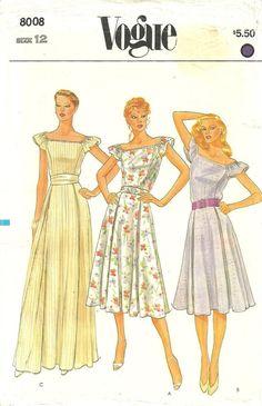 Vogue 8008 / Vintage Sewing Pattern / Dress by studioGpatterns