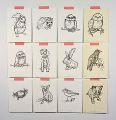 {Letterpress Prints of Drawings in Thread} sweet!