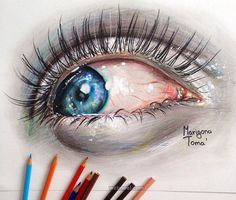 color pencil drawing eye