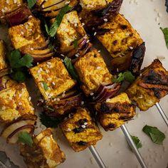 Grilled Vegan Coconut Curry Tofu Skewers   Frontier Co-op