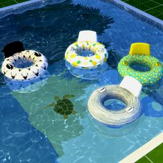 LEO-SIMS • Pool Floats 4 swatches 2154 poly Download