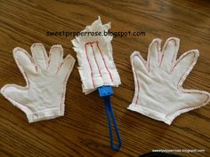 DIY Tshirt dusting gloves and dusting wipes... Wash and Reuse... save $$$