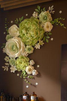 Big Paper Flowers, Paper Peonies, Tissue Paper Flowers, Paper Flower Wall, Paper Flower Backdrop, Giant Paper Flowers, Flower Wall Decor, Paper Roses, Diy Flowers