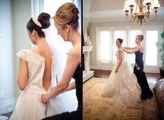 Brides Getting Dressed