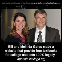 Bill and Melinda Gates made a website that provide free textbooks for college…