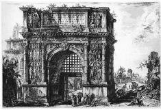 Giovanni_Battista_Piranesi. The Arch of Trajan at Benevento as it appeared in the 18th century.