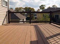 Trex And Cement Deck Composite Decking Vinyl Rails And