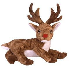 All Beanie Babies - ROXIE the Reindeer (Red Nose) ty beanie baby Kids Toy 1dee5051154c