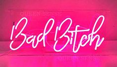 Queen Sense Bad Bitch Neon Sign Light Decorated Acrylic Panel Handmade Beer Bar Pub Man Cave Lamp in Ceiling Fans & Accessories. Pink Neon Sign, Pink Neon Lights, Neon Light Signs, Neon Signs, Neon Sign Art, Bedroom Wall Collage, Photo Wall Collage, Picture Wall, Neon Aesthetic