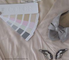 Combinación de colores creada a partir de la paleta Agua (verano) rosa hielo, plata, grises y cristales, perfecto para un cocktail www.maisonaubele.com