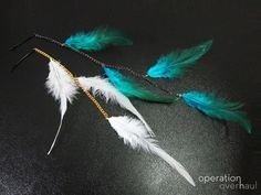 New Feather Hair Clip Red Only