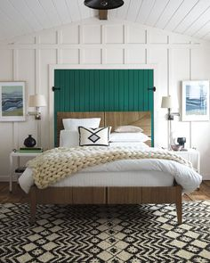 Great paneling - Serena and Lilly Henley Wool Throw