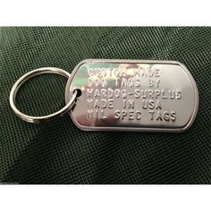 Support Veteran Owned and Operated businesses with this custom Dog Tag!