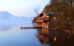 Das Haus am See Hintergrundbilder - 1920x1200