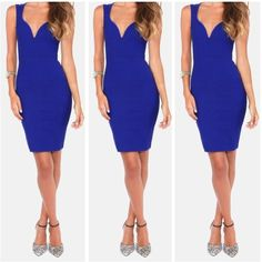 Royal blue body con dress Brand new never worn before✨entire closet BUY 3 GET 3 FREE, please bundle!!! ✨ Dresses Mini