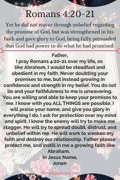 Romans – Letting His Light Shine Prayer Times, Prayer Scriptures, Bible Prayers, Faith Prayer, God Prayer, Prayer Quotes, Bible Verses Quotes, Angel Prayers, Healing Scriptures