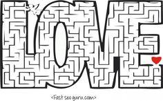 Free Printable valentines day #mazes #puzzles worksheets for kids.free online #valentines day mazes puzzles activities worksheets for.print out valentines day preschool.word puzzles,crossword puzzles