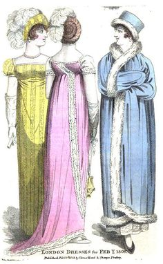 Regency Fashion: Evening Dresses via Regency Reader Regency Dress, Toy House, Haute Couture Fashion, Pride And Prejudice, Retro Outfits, Fashion Plates, Old Women, Beautiful Outfits, Vintage Dresses