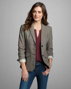 Women's Classic Wool-blend Blazer - Pattern   Eddie Bauer