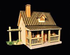 Maisons miniatures  Matériau: carton environ 4cm haut