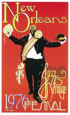 Jazz Festival Posters New Orleans | 1976 jazz fest poster we buy and sell vintage jazz festival posters ...