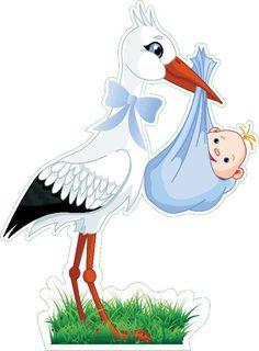 Cigüeña y bebe