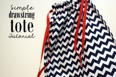 When I learned to sew as an elementary school kid my very first sewing project wast a simple draw string bag. Drawstring totes just require a couple of quick straight lines so they are perfect if you are new to sewing or when you want to whip up something cute and quickly. This one is …